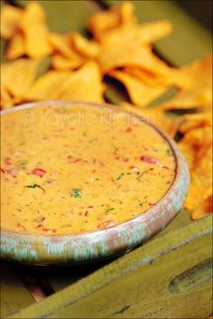 chile con queso!  never thought the secret to one was finely chopped cooked bacon!