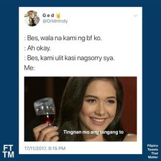 Filipino Memes, Filipino Funny, Pinoy Quotes, Hugot Quotes, About Twitter, Wattpad Quotes, Tagalog, I Can Relate, Bts Taehyung
