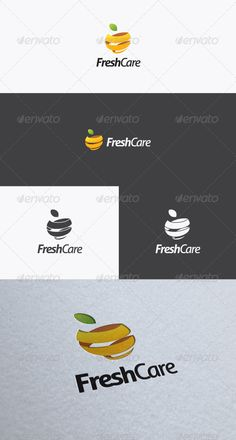 Fresh Care Logo. Fresh Care is illustrative logo design combined fresh fruit symbol with attractive color palette represent the feeling of fresh and fun. This logo suited to any company related to fresh, fun, community, social, website, application, etc.