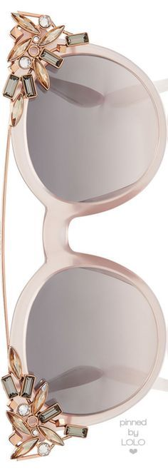 Jimmy Choo Vivy Pink Round Framed Sunglasses   LOLO❤︎