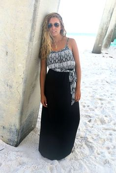 4b6b52eb509a Off The Coast Off White Printed Black Skirt Maxi Dress