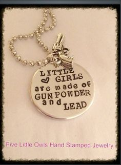 READY TO SHIP Hand Stamped Gunpowder and Lead by Fivelittleowls, $23.00