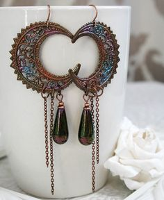 MYSTIC MOONS fantasy moon earrings extra by TheVictorianGarden, $37.00