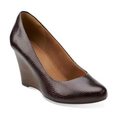 Purity Crystal in Burgundy Synthetic Patent - Womens Shoes from Clarks