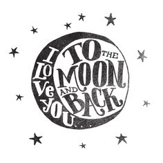 I LOVE YOU TO THE MOON AND BACK Framed Art Print by Matthew Taylor Wilson   Society6