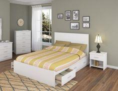 Sonax 5q 011 Lwb Queen Storage 3 Piece Bed Set With Flat Headboard