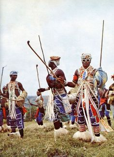 South Africa's Xhosa people are known for their intricate bead work. The heavy use of lines, angularity and the color white in their dress gives it a look that is both traditional and futuristic. African Culture, African History, African Art, African Style, African Dance, Tribal African, African Fabric, African Women, Afro Punk Fashion