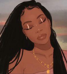 So fabulous just like you my fiery ♌️Leo. Black Girl White Hair, Black Girl Art, Black Women Art, Black Girl Magic, Black Cartoon Characters, Black Girl Cartoon, Dope Cartoon Art, Drawings Of Black Girls, Black Art Pictures