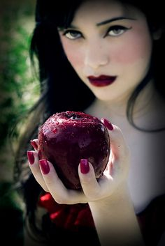 A little known fact...without the benefit of Midol, once a month Snow White transformed into her evil-as-the-devil-queen alter ego - Blac Icee! If you doubt this...ask a few dwarfs who hid the picks and shovels, bit from no apples and tried their damnest to stay outta her way at those times!