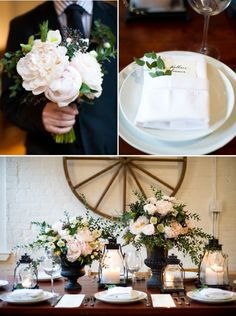 """""""Contemporary Rustic""""   Photography: Missy Photography   Brooklyn Bride's"""