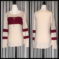 Color Blocked Top Style 1122  Size Small-Wine96% Rayon, 4% Spandex Price is firm unless bundled No trades Tops Tees - Long Sleeve