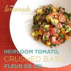 Heirloom Tomato Salad, anyone? #Basil #FleurdeSel @brebuhr - #Lemonade