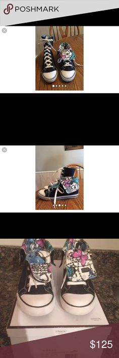 Coach sneakers Women's size 8 gently used Coach sneakers,they sit in the box in my closet Coach Shoes Athletic Shoes