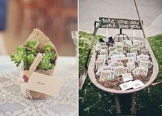 Seeds Wedding Favour and Plant Wedding Favour | Wedding Inspiration | Wedding Ideas | Rustic Wedding | http://www.rockmywedding.co.uk/ten-beautiful-wedding-favours-your-guests-will-actually-love/