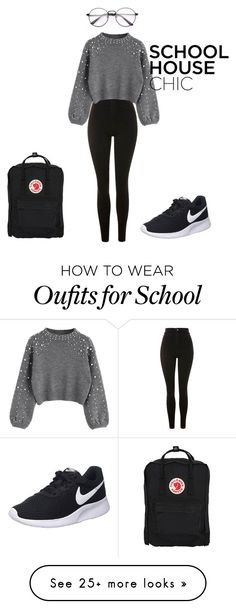 """""""School House Chic"""" by rrr5142007 on Polyvore featuring Topshop, NIKE and Fjällräven"""