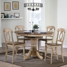 Have to have it. Sunset Trading Brookside 5 Piece Oval Counter Height Table Set with Napoleon Stools - $1417 @hayneedle