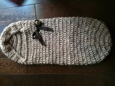 Alpaca yarn baby crochet cocoon