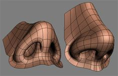 A good sub-division nose with detailed nostrils design. (by: Chris Whitaker) #Topology