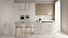 55 Modern Kitchen Interior Design That You Have to Try, a lovely kitchen is dreaming and needed for every woman. A growth of interior design treats us to give the best for our dwelling include a kitchen. Modern Kitchen Interiors, Elegant Kitchens, Modern Kitchen Design, Interior Design Kitchen, Modern Interior Design, Modern Kitchens, Luxury Kitchens, Beautiful Kitchens, Contemporary Interior