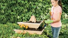Want to add a garden but have limited space? This pyramid-shaped planter provides 36 linear feet of planting area, yet its base is compact enough to sit nicely on a deck or patio. Fill it with flowers, herbs or vegetables--its unique tiered design allows for easy access and lets light reach all of your plants.