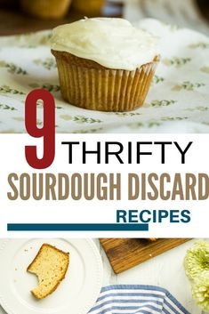 Isn't it annoying to throw out your discard sourdough starter?  Well you can bake with it!  Anything from muffins to pizza dough can be baked with sourdough discard.  Surely one of these 9 recipes will save it from being wasted.  #sourdough #frugal #baking