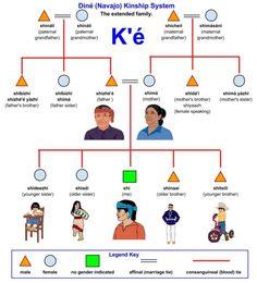 Consanguinity and marital ties -- K'é – Diné (Navajo) Kinship System Native American Dress, Native American Symbols, Native American History, Native American Indians, Navajo Words, Navajo Art, Cherokee, Navajo Language, Navajo Culture