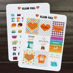 Glam Fall Planner Stickers by @paperandglam  shop.paperandglam.com