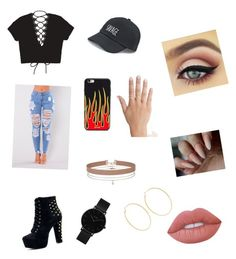 """""""Untitled #13"""" by beeneyhead on Polyvore featuring SO, Tobi, Miss Selfridge, CLUSE, Kenneth Jay Lane and Lime Crime"""