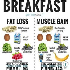 Choose according to your preference. These are healthy breakfast items for both. Lean Muscle Meal Plan, Food To Gain Muscle, Muscle Food, Muscle Meals, Muscle Building Foods, Build Muscle, Workout Meal Plan, Post Workout Food, Weight Gain Meals