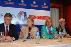 En Mar del Plata junto a Binner y Vilma Baragiola