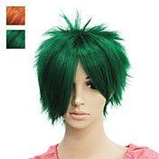 Capless Short Green Straight Synthetic Hair W... – NOK kr. 132
