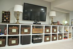 Inspiration for the basement tv/game room.....Thrifty Decor Chick: Our Home