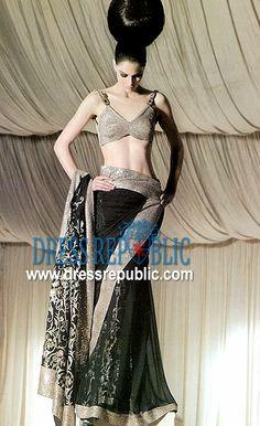 Indian, Pakistani Designers Saree Collection, Saree Designs 2010 - 2011   by www.dressrepublic.com