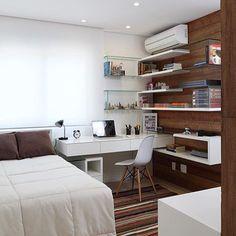 24 отметок «Нравится», 2 комментариев — Gaia Interiores (@gaiainteriores) в Instagram: «Por @decoredecor  Quarto clean, super planejado, delicado!  #décor #design #designinteriores…»