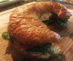 Chicken Club Croissant with Pesto Mayo