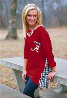 Alabama Gingham Piko Style Top