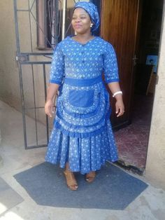 African Shweshwe Styles Trendy for Ladies - Fashion African Fashion Skirts, African Maxi Dresses, African Dresses For Women, African Attire, African Wear, Fashion Models, Fashion Designers, African Fashion Traditional, Shweshwe Dresses