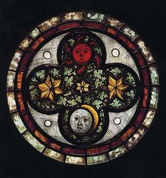Roundel  --  1390  --  Austrian  --  Pot-metal glass, colorless glass & vitreous paint  --  The Metropolitan Museum of Art