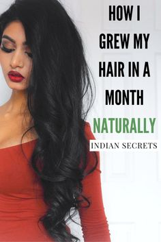 How I Grew My Hair Long & Thick NATURALLY in A Month |