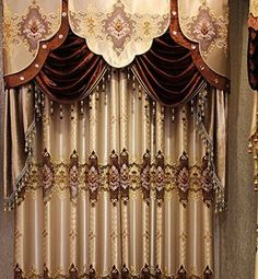 with a beautiful sheer embroidery floral pattern logo blackout curtain displays eyecatching style