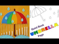 53 Trendy Ideas Sewing Projects For Girls Quiet Books Diy Quiet Books, Felt Books, Book Projects, Sewing Projects, Quite Book Patterns, Umbrella Template, Quiet Book Tutorial, Quiet Book Templates, Felt Crafts Diy