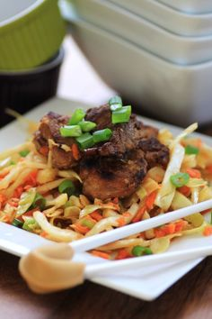 Korean Pork Tenderloin Medallions with Asian Slaw