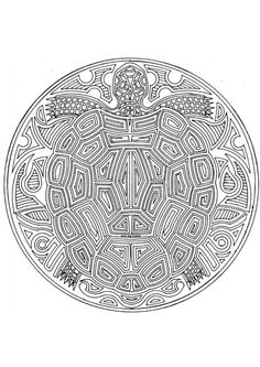 coloring pages for adults | Coloring page turtle mandala - img 4545.