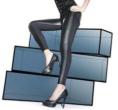 0b81be1dcf Leggings tregging sexy femme noir simili cuir BAS BLEU INGRID 36 38 40 42 44    eBay