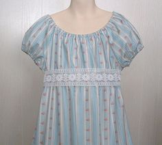 Regency Dress Jane Austen Girls Empire Style Tea Party Dress