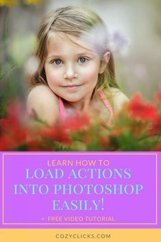 Want to know how to load in your new photoshop actions. Learn how to load in your actions to Photoshop right here!