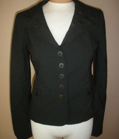 Cynthia Steffe Black Blazer Pin Striped Lined Jacket Womens Sz 4 Made USA #CynthiaSteffe #Blazer http://stores.ebay.com/Castys-Collectibles?_dmd=2&_nkw=womens+jacket