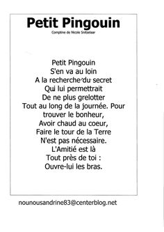 Pingouin Teaching Themes, Teaching Schools, Teaching Resources, Christmas Poems, Christmas Concert, French Poems, French Immersion, Dual Language, Chant