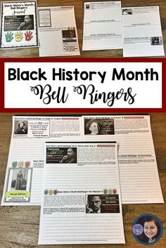 20 Text-Based Black History Month  Bell Ringers for Middle and High School Students