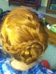 Or... You can twist both braids into a little bun:)